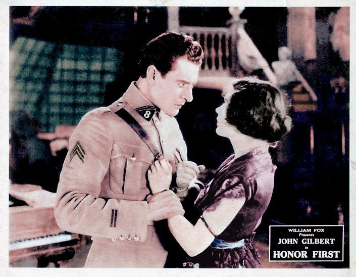 John Gilbert and Renée Adorée in Honor First