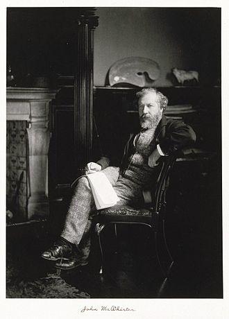 John MacWhirter - Photographic portrait of John MacWhirter (between circa 1889 and circa 1891)