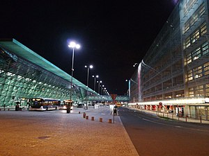 John Paul II Airport in Balice-Kraków night november 2017(3).jpg
