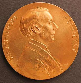 John Pope Hennessy - Sir John Pope Hennessy Governor of Mauritius, medal by Oscar Roty