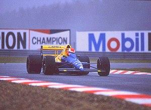 Tyrrell 018 - Image: Johnny Herbert 1989 Belgian GP