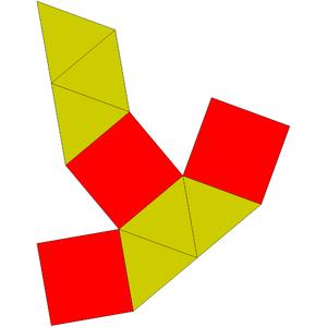 Elongated triangular bipyramid - Image: Johnson solid 14 net