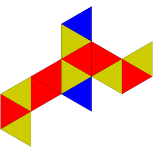 Triaugmented triangular prism - Image: Johnson solid 51 net