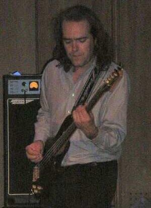 Jon Hare - Hare Performing at St Lukes with band SID80s, October 2004