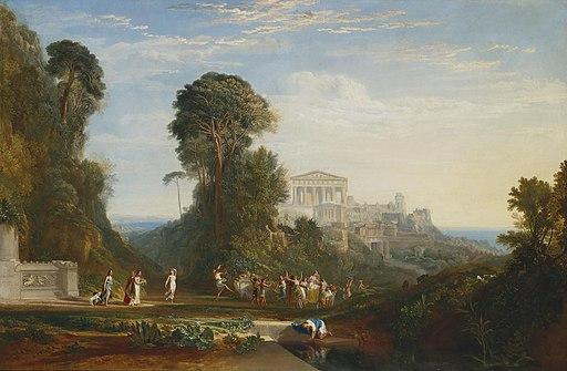 Joseph Mallord William Turner - The Temple of Jupiter Panellenius Restored, 1816
