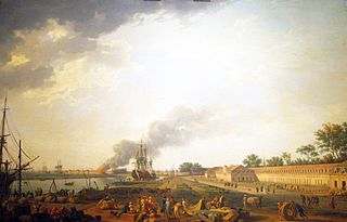 View of Rochefort Harbor, from the Magasin des Colonies