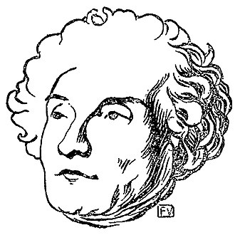 Joseph de Maistre - Portrait by Swiss painter Félix Vallotton, from La Revue blanche, 1er semestre, 1895.