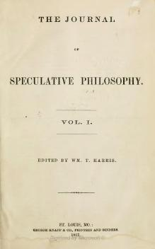 Journal of Speculative Philosophy Volumes 1 and 2.djvu
