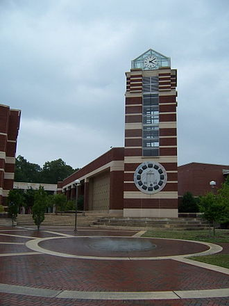 East Carolina University - The Joyner Library clock tower.