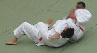 Ude hishigi juji gatame Judo technique