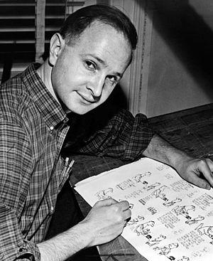 Jules Feiffer - Feiffer proofing Sick Sick Sick in 1958