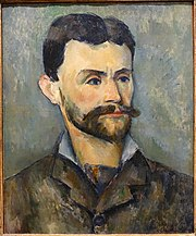 Jules Peyron by Paul Cezanne, c. 1885-1887, oil on canvas - Fogg Art Museum, Harvard University - DSC01580.jpg