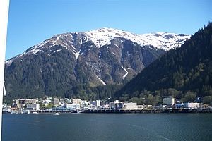 View of downtown Juneau, Alaska, as seen from ...