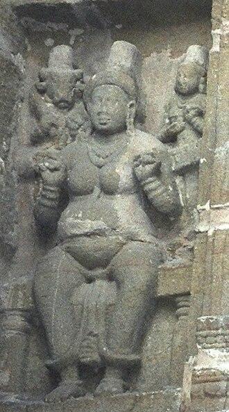 Jyestha (goddess) - Jyestha, Kailas temple, Kanchipuram.