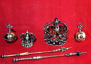 Crown of Augustus III of Poland - Silver regalia of King Augustus III of Poland and Queen Maria Josepha