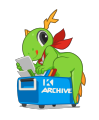 KDE mascot Konqi for search and archives.png