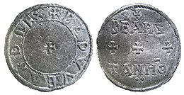 Silver penny of Edward the Elder