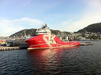 K Line - KL Saltfjord in Bergen harbour