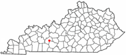 Location of Woodbury, Kentucky
