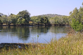 Kafue River - Kafue River, Chamufumbu, near Lubungu Pontoon, Zambia