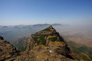Harishchandragad hill fort in the Ahmednagar district of India