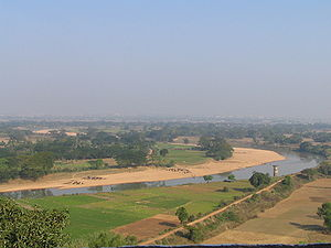 Kalinga War - A view of the banks of the Daya River, the supposed battlefield of Kalinga from atop Dhauli hills, Bhubaneswar, Odisha State