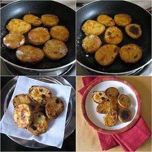 Fried sweet potato - Kananga phodi-tawa, an Indian cuisine dish made with battered and fried sweet potato