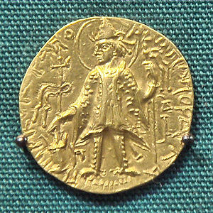 Kanishka II - Coin with a depiction of Kanishka II.