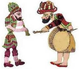 Culture of Turkey - Karagöz and Hacivat are the lead characters of the traditional Turkish shadow play, popularized during the Ottoman period.