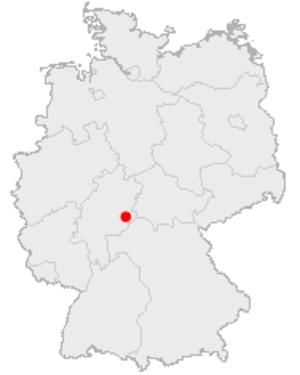 Fürsteneck Castle - Location of Fürsteneck Castle in Germany
