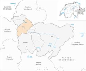 Karte Gemeinde Chur 2016