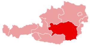 Liezen District - Image: Karte oesterreich steiermark
