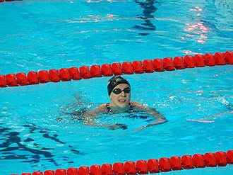 Swimming at the 2015 World Aquatics Championships – Women's 400 metre freestyle - Katie Ledecky after the final heat