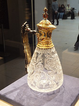 Edmund de Unger - 11th century Fatimid rock crystal ewer in Italian gold and enamel mount, acquired in 2008 for over £3 million for the Keir Collection