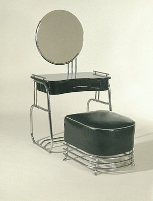 Kem Weber - Vanity with Mirror, 1934 Brooklyn Museum