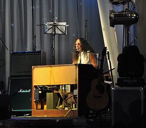 "Ken Hensley - Ken Hensley performing in Sofia with the Bulgarian rock band Sunrize during their ""Rock on the Rocks Tour 2011""."