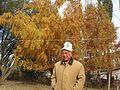 Kenesh Jusupov, a Kyrgyz writer, in On-Archa. Naryn region, Kyrgyzstan. 04.10.2012.jpg