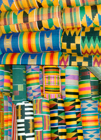 The Ashanti Kente cloth patterns Kent wove.jpg