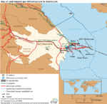 Key oil and natural gas infrastructure in Azerbaijan.png