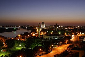 Khartoum at night
