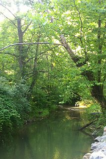 Kiah Creek river in the United States of America