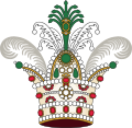 Kiani Crown of Imperial Iran (heraldry).svg
