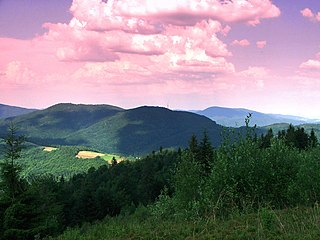 Gorce Mountains part of the Western Beskids mountain range spreading across southernmost Poland