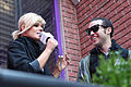 Kimberly Caldwell, Pete Wentz at Yahoo Yodel 3.jpg