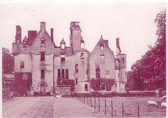 Kimmerghame House - Image: Kimmerghamepostfire