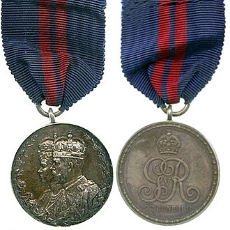 Coronation of King George V and Queen Mary - King George V Coronation Medal