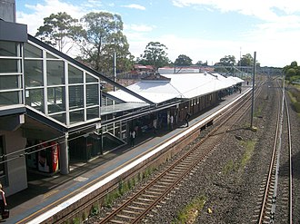 Kingsgrove railway station - Westbound view in December 2011