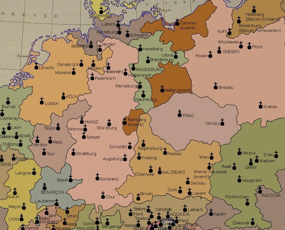 Kirchenprovinzen Deutschland 1500
