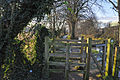 Kissing gate beside the River Slea - Sleaford - geograph.org.uk - 1639890.jpg