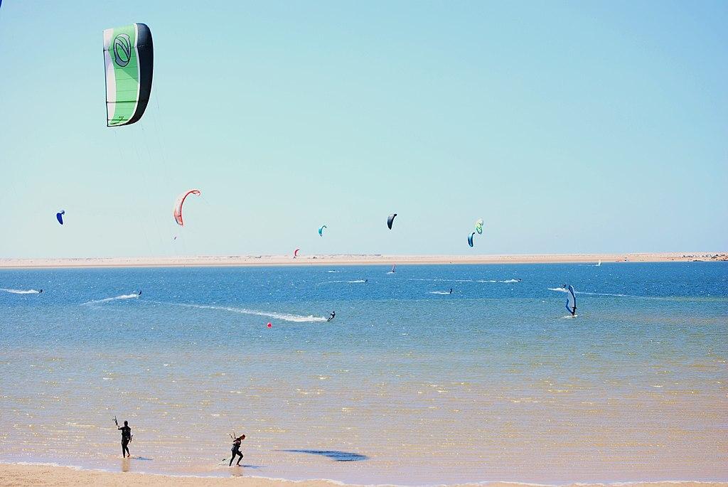 Kitesurfers in Dakhla